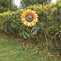 Darkduke Metal Sunflower Garden Stakes, Stable Stake Metal Garden Spinner, Spinning Garden Stake Windmill Outdoor Garden Patio Decoration, Lawn & Yard Windmill Outdoor Garden Patio Decoration