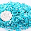 LMLY 50g/ 3-5mm Natural Malachite Quartz Crystal Gravel Specimen Natural Stones and Minerals Fish Tank Green Blue Stone (Color : Blue Seashell)