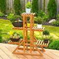 3-Tier Indoor Outoor Plant Stand Brown-Plant Stand-Plant Stands for Indoor Plants-Plant Shelf-Plant Stands-Tall Plant Stand-Bamboo Plant Stand-Window Plant Shelves-Corner Plant Stand