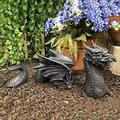 Large Dragon Gothic Garden Decor Statue, The Dragon of Falkenberg Castle Moat Lawn Garden Statue, Funny Outdoor Figurine, Yard Art Sculptures & Statues, Resistant Statue for Garden, Garden