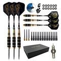 N\C Professional Darts 24g Hard Darts Game Darts Needle Accessories 6 per Box of Copper Darts Set Non-Dart Board (Hard Darts-6 Pieces)