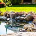 YANSJD Solar Water Fountain, Floating Fountain Pump for Garden Decoration, Bird Bath, Pond, Fish Tank, Pool, Water Cycling1.2W Garden Solar Fountain Pump