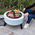 ZRXRY Luxury Tripod Grill, Wood Burning Barbecues/BBQ Grills/Fire Pit, Table Charcoal Barbeque Grills, Garden Heater Fire Bowls, Multi-Purpose Smoker BBQ Grill
