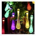 TIFALEX Solar String Lights, Outdoor Waterproof Fairy Light,LED Multi Color Waterdrop Lighting,Teardrop Solar Lights Outdoor Decorative,Garden Solar Lights,Garden Patio Decorative (Multi-Color)