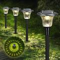 Jack & Rose Solar Lights Outdoor Pathway 6 Pack, Garden Lights Solar Powered Waterproof, LED Solar Lights Outdoor Decorative for Path Walkway Patio Yard & Lawn-Warm White & 7 Color Change Two Mode
