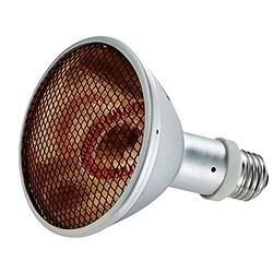 Deep Heat Projector Reptile Heat Lamp, Basking Light for Bearded Dragon & Leopard Gecko, Carbon Infrared Heater, 100W, E26/E27