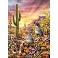 DIY 5D Diamond Painting Full Kits for Adults Flower Cactus Bird Pictures Full Drill Diamond Art Crystal Rhinestone Mosaic Embroidery Cross Stitch Arts Crafts for Home Wall Decor Kids 24x32in F2526