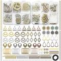 Bohemian Earring Making Kit, Earring Making Supplies Hypoallergenic - 24 Pair Vintage Dangle Earring Charms, with Earring Backs, Earring Hooks, Earring Findings, Charm and String for Jewelry Making