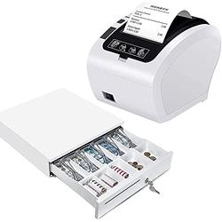"""MUNBYN WiFi Receipt Printer with Cash Drawer, 16"""" Heavy Duty Cash Register for POS System, Fit POS Receipt Printer Support WiFi Connection"""