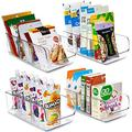 Soda Can Organizer for Refrigerator, Plastic Can Drink Holder Storage & Dispenser Bin, Fridge Organizer Bin for Kitchen Basement Garage Fridge- 4 Pack