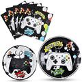 Watercolor Video Game Party Plates and Napkins - Gaming Birthday Party Supplies for Boys Game Lovers Disposable Dinner Dessert Cake Paper Plates Lunch Napkins Serves 16 Guests 48 PCS