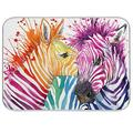 Tarity Cute Watercolor Zebra Dish Drying Mat for Kitchen Counter Absorbent Heat Resistant Microfiber Dishes Drainer Mat 18x24 in Large Dish Pad Sink Mat Protective Pad Kitchen Decor