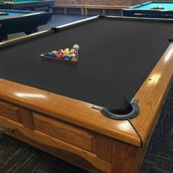 Konelia Billiards Felt Worsted Blend Fast Speed Pool Table CoverIrish Linen in Black, Size 112.0 H x 56.0 W in   Wayfair 04OGC0013CBK