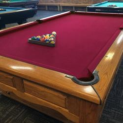 Konelia Billiards Felt Worsted Blend Fast Speed Pool Table CoverIrish Linen in White, Size 87.0 H x 47.0 W in | Wayfair 04OGC0013ARD