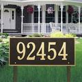 Whitehall Products Hartford 1-Line Lawn Address Sign Metal, Size 27.0 H x 23.25 W x 1.0 D in | Wayfair 1328OG