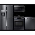 Samsung 4-Door Flex Refrigerator + Slide-in Gas Range + Dishwasher + Microwave in Black Stainless(BNDL-1604355668447)