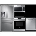 Samsung 27 cu. ft. 3-door refrigerator, convection gas range, microwave and dishwasher package(BNDL-1612902040826)