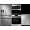 Samsung 28 cu. ft. 4-door refrigerator, gas range, microwave and dishwasher package(BNDL-1612902654943)