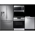 Samsung 28 cu. ft. full depth 3-door refrigerator, 6.3 cu. ft. electric range, microwave and 48 dBA dishwasher package(BNDL-1614013439392)