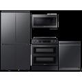 Samsung 23 cu. ft. Counter Depth BESPOKE 4-Door FlexTM Refrigerator in Matte in Black Steel