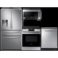 Samsung 28 cu. ft. 4-door refrigerator, gas range, 2.1 cu. ft. microwave and dishwasher package(BNDL-1612904217692)