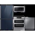 Samsung 23 cu. ft. Counter Depth BESPOKE 4-Door FlexTM Refrigerator in Navy Blue Glass