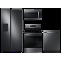 Samsung Counter Depth Side-by-Side refrigerator & gas range package in Stainless Steel(BNDL-1590168705840), Silver
