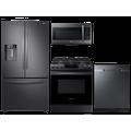 Samsung 28 cu. ft. full-depth 3-door refrigerator, gas range, microwave and 48 dBA dishwasher package(BNDL-1614625491925)