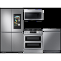 Samsung 23 cu. ft. Family Hub 4-Door refrigerator, gas range, convection microwave and Smart Linear dishwasher package(BNDL-1623883733757)