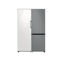 Samsung 11.4 cu. ft. BESPOKE Flex Column refrigerator in White Glass + 12.0 cu. ft. BESPOKE Bottom Freezer refrigerator in Grey Glass