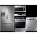 Samsung Large capacity 3-door refrigerator & gas range package in Stainless Stainless(BNDL-1590165718885)