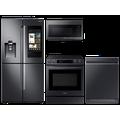 Samsung 22 cu. ft. Family HubTM counter-depth 4-door refrigerator, 6.3 cu. ft. electric range, microwave and Smart Linear dishwasher package