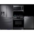 Samsung 28 cu. ft. 4-door refrigerator, gas range, microwave and 48 dBA modern-look dishwasher package(BNDL-1614026727646)