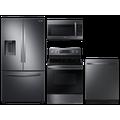 Samsung Large capacity 3-door refrigerator & electric range package in Black stainless(BNDL-1590165023311)
