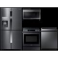 Samsung 4-Door Flex Refrigerator + Slide-in Electric Range + Dishwasher + Microwave in Black Stainless(BNDL-1604355098256)