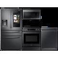 Samsung 28 cu. ft. Family HubTM 4-door refrigerator, 6.3 cu. ft. electic range, microwave and Smart Linear dishwasher package(BNDL-1613151704265)