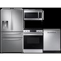 Samsung 28 cu. ft. 4-door refrigerator, 6.3 cu. ft. electric range, microwave and 48 dBA dishwasher package(BNDL-1613506659614)