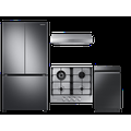 Samsung 23 cu. ft. Smart Counter Depth BESPOKE 4-Door Flex Refrigerator with Customizable Panel Colors in White Glass Top Rose Pink Bottom
