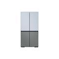 Samsung 29 cu. ft. Smart BESPOKE 4-Door Flex Refrigerator with Customizable Panel Colors in Sky Blue Glass Top Grey Glass Bottom(BNDL-1620769362125)