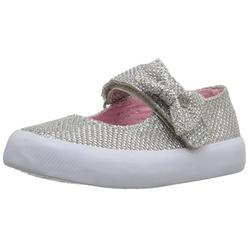 The Children's Place Sparkle Bow Mary Jane (Toddler/Little Kid/Big Kid), Silver,8 M US Toddler