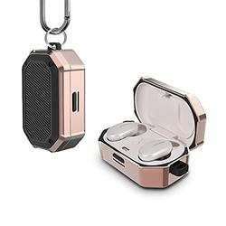 UAYH Compatible with Bose QuietComfort Earbuds Case Cover, Full-Body Military Grade Protective Case with Keychain for Bose QuietComfort Noise Cancelling Earbuds,[Front LED Visible] Golden