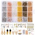 Yholin 3155PCS Earring Making Supplies Kit, 6 Colors Earring Hooks,Open Jump Rings,Earring Back,Lobster Clasp,T-Pins,Extension Chain,Jewelry Display Cards,Self-Sealing Bags for DIY Jewelry Making