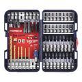 "Norske Tools NIBPI712 46pc Impact Torsion Screwdriver Bit Drill Bit Set with PH2 Dimpler Bit, Socket Adapters, Nutsetters, Titanium Drill Bits (1/8"", 5/32"", 3/16"", 1/4"" and 1/4"" Magnetic QC Bit Holder"