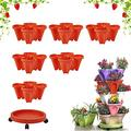 Stand Stacking Planters Strawberry Planting Pots, Strawberry and Herb 7-Layer Three-Dimensional Flower Pot, Stackable Plastic Strawberry Planter, Vertical Garden Planters Garden Tower Ideal