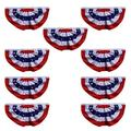 Xunny USA Pleated Fan Flag, American US Bunting Flag Patriotic Half Fan Banner Flag,4th of July bunting,Memorial Day bunting,Indoor Outdoor Decoration bunting (10)