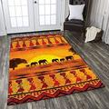 Savanna Sunset Area Rugs Carpet Home Decorative Special Design Washable Thin Anti-Skid Base Printed Area Rug New Year Gift Decor 2x3 3x5 4x6 5x8 Area Rug