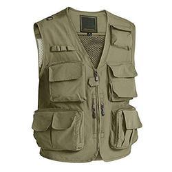 Men Tactical Vest Fashion Outerwear Vest Lightweight Mesh Breathable Work Vest Multi Pockets Fishing Vest for Men Cargo Vest