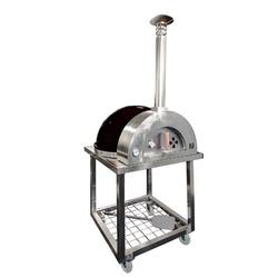Medici Mosaics Forno di Italy Woodburning Outdoor Stainless Steel Freestanding Pizza Oven Steel in Black, Size 93.0 H x 37.0 W x 41.0 D in   Wayfair