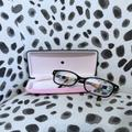 Kate Spade Accessories | Kate Spade Lucyann Aqua Striped Eyeglass Frames | Color: Blue/Brown | Size: Os