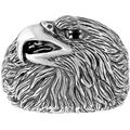 Black Spinel Accent Eagle Ring In Sterling Silver - Metallic - Effy Rings